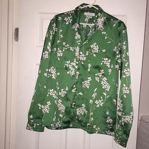 (SOLD) Long sleeve floral button down